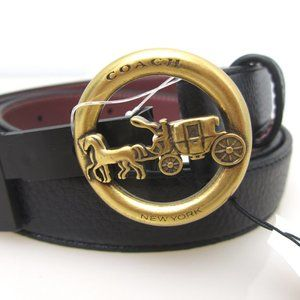 Coach Horse and Carriage buckle belt Black